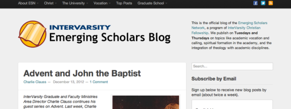 Emerging Scholars Blog